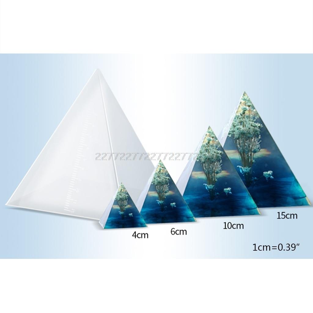 Molde de silicone transparente forma pirâmide moldes diy resina artesanato decorações o24 19 dropship