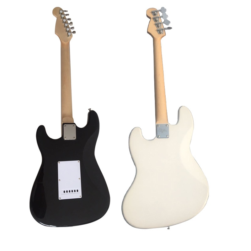 Beginners Electric Guitar Thin Body Acoustic Spalted Maple White Guitar Body Sopranos Chitarra Classica Entertainment EH50G enlarge