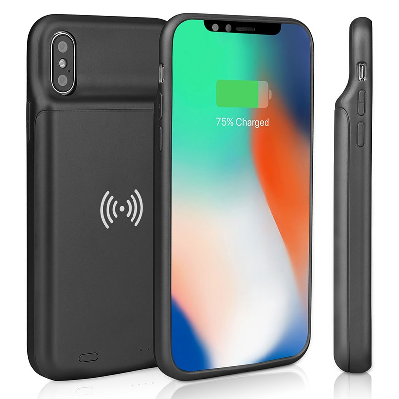 Wireless Charging Battery Charger Case For iPhone 6 s 6s 7 8 Plus Battery Case With Audio Power Bank Charger Case For iPhone X X oisle mini portable external battery charger battery case power bank for iphone x 11 7 8 6s xs 12 samsung s9 huawei p30 xiaomi 9