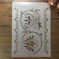 a4 29cm totem lines diy layering stencils wall painting scrapbook embossing hollow embellishment printing lace ruler