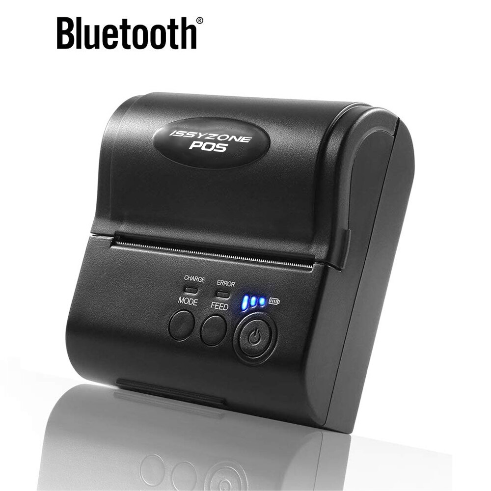 Impresora térmica de recibos con Bluetooth IMP005, impresora portátil de Logo de 80mm, impresora de Logo de 3 pulgadas, soporte de impresión Android iOS por ordenador, SDK gratis