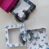 d series pull butterfly pattern new eyelash box light and soft false eyelashes makeup beauty high quality silky set