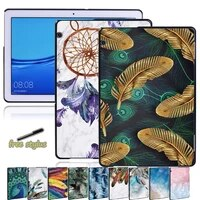 for huawei mediapad t5 10 10 1 feather pattern back case for mediapad t3 8 0t3 10 9 6t5 10 10 1 tablet hard shell case