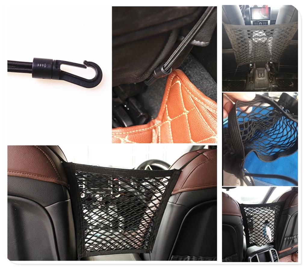 Accesorios para coche, paraguas de bebidas, artículos diversos, bolsillo de red de almacenamiento para Mercedes Benz GLA45 GLA G650 Clase E A170 GLC63 E63
