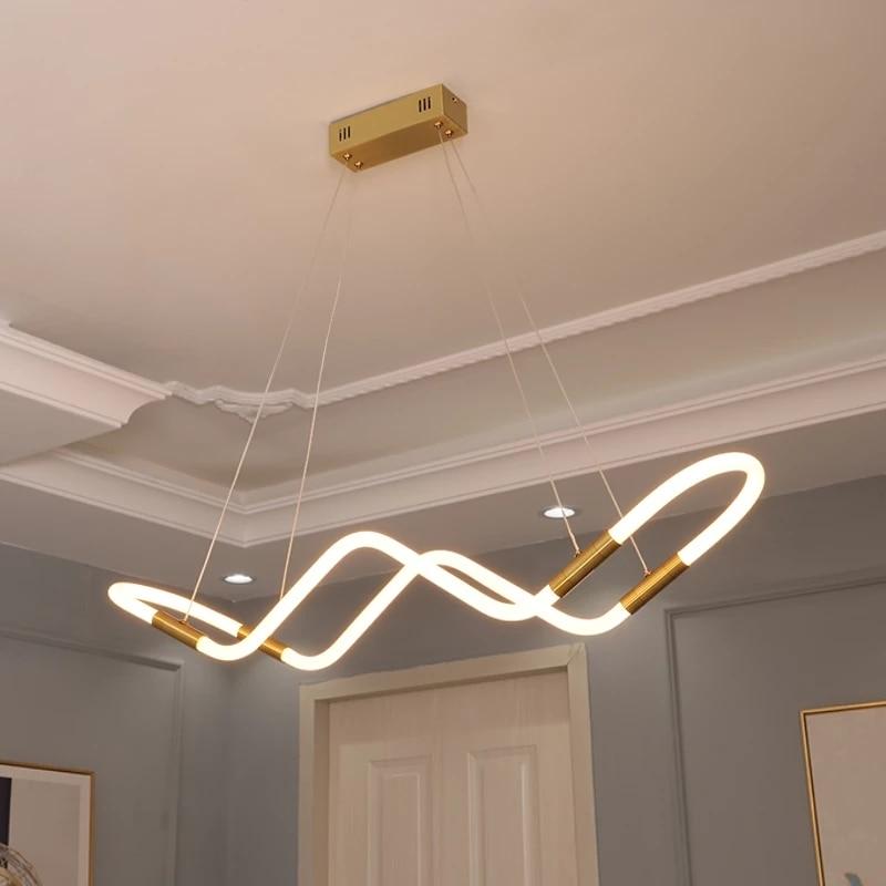 NEO Gleam-مصباح معلق Led حديث ، مصباح سقف 90-360 فولت ، تصميم أكريليك ، مثالي لغرفة الطعام ، 265