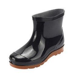 SAGACE/мужские ботинки для отдыха; Резиновые ботинки на низком каблуке; Мужская обувь с круглым носком; Зимние ботинки; Мужские Нескользящие водонепроницаемые ботинки средней высоты