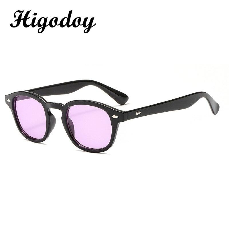 Модные круглые солнцезащитные очки Higodoy в стиле ретро для мужчин и женщин, пикантные Роскошные брендовые солнцезащитные очки, зеркальные оч...