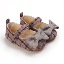 Princess Baby Girl Shoes Brand Bow Toddler Soft Sole Lovely Girl Shoes First Walker Knit Infant Newb