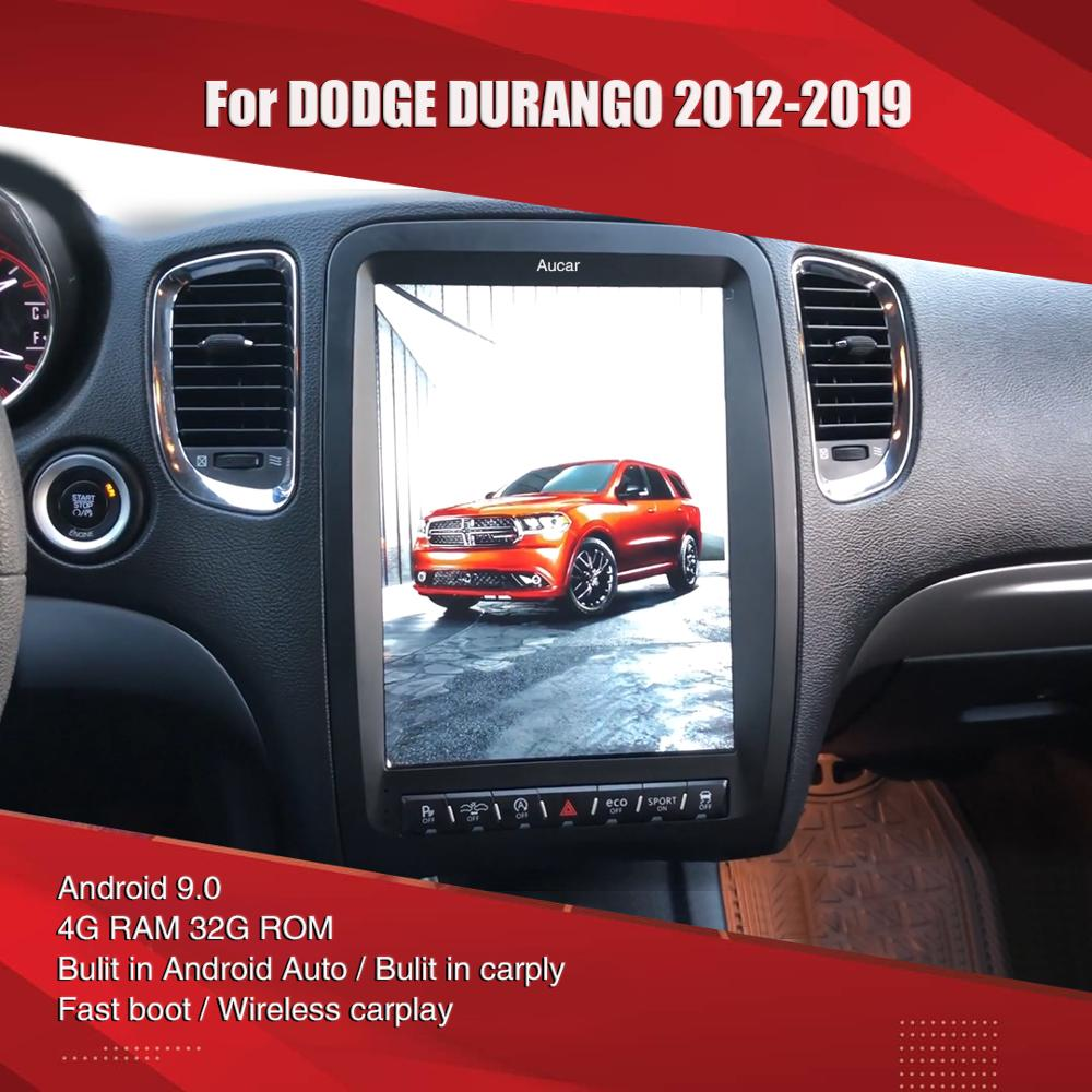 Aucar styl Tesla dla Dodge Durango Android multimedialne Radio samochodowe dla Dodge Durango GPS nawigacja Stereo 2 din radioodtwarzacz