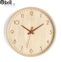 retro wood wall clock modern silent wall watch home japanese style wooden needle wall watches home decor farmhouse decor horloge