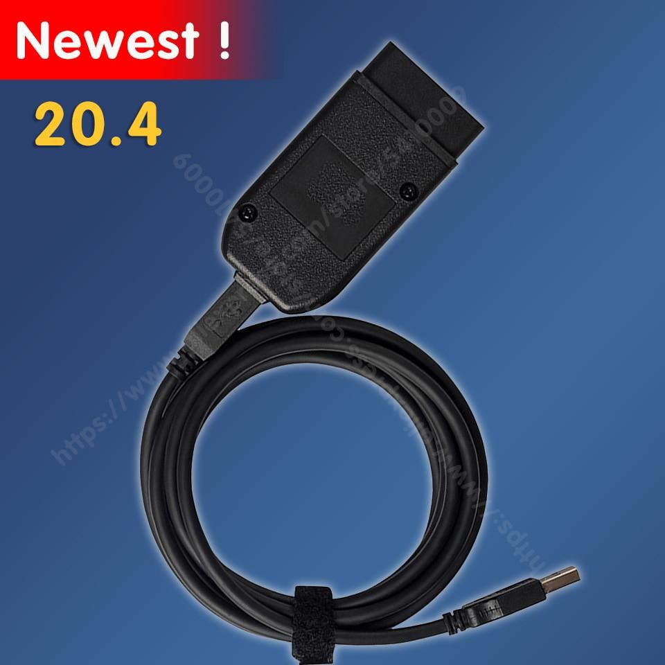 2020 testadores elétricos populares vcds hex v2 interface usb para vw audi skoda seat vag 20.4 multi-idioma atmega162 + 16v8 + ft232rq