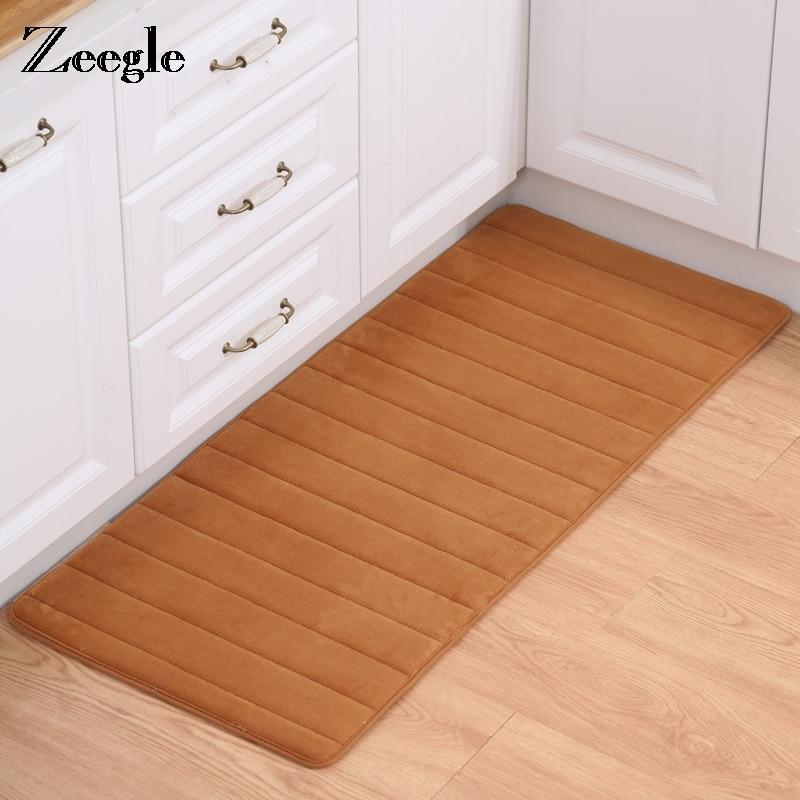 Zeegle Memory Foam Kitchen Mats Bathroom Floor Mat Non-slip Carpets For Living Room Washable Kitchen Rugs Home Entrance Doormat