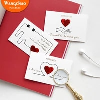 6 styles solid red heart greeting card with envelopes romantic letter i love you forever wedding invitation valentines day