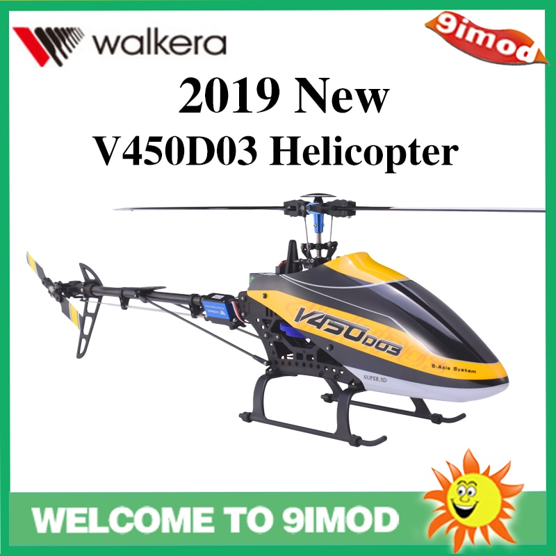 2019 Walkera V450D03 6CH 3D Fly 6-Axis Stabilization System Single Blade Professional Remote Control