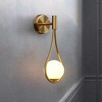 Современный настенный светильник со стеклянными шариками, роскошное Золотое бра для гостиной, спальни, прикроватного столика, коридора, ле...
