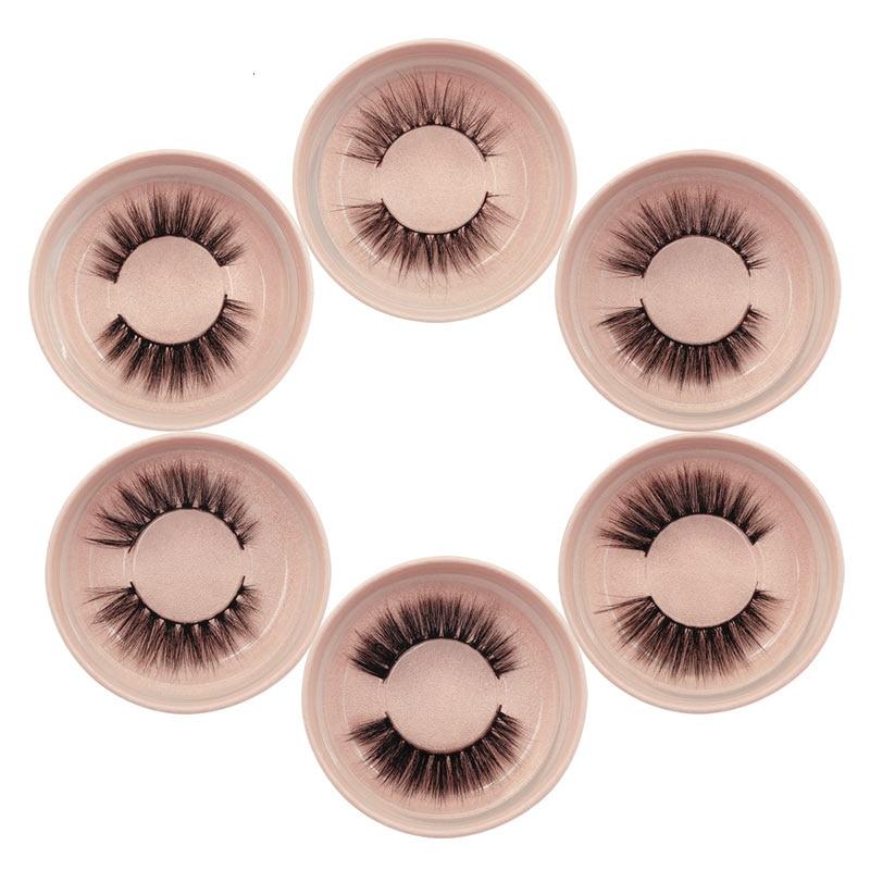 Pestañas de visón de imitación natural largas pestañas postizas maquillaje wispy mullido 3d pestañas de visón extensiones de pestañas cosméticas