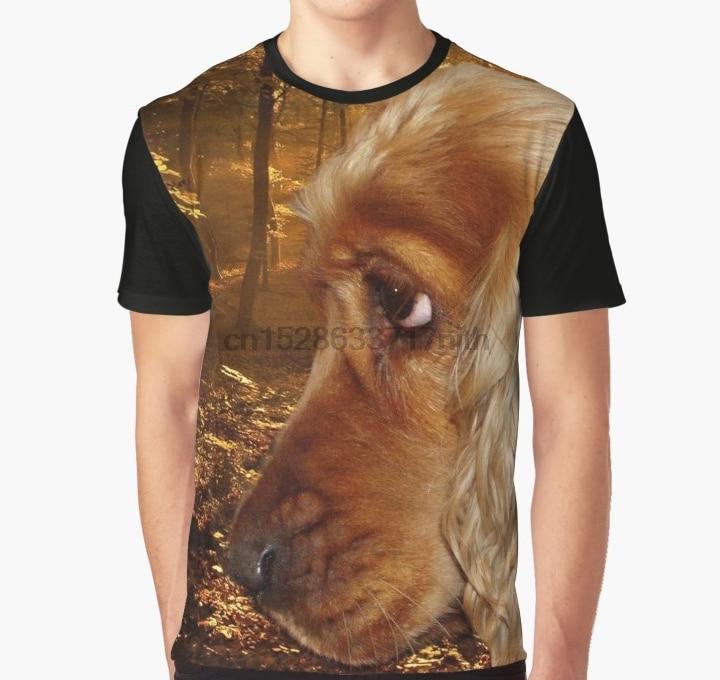 Toda impresión 3D camiseta perro Cocker spael impresión completa Big Print gráfico camiseta