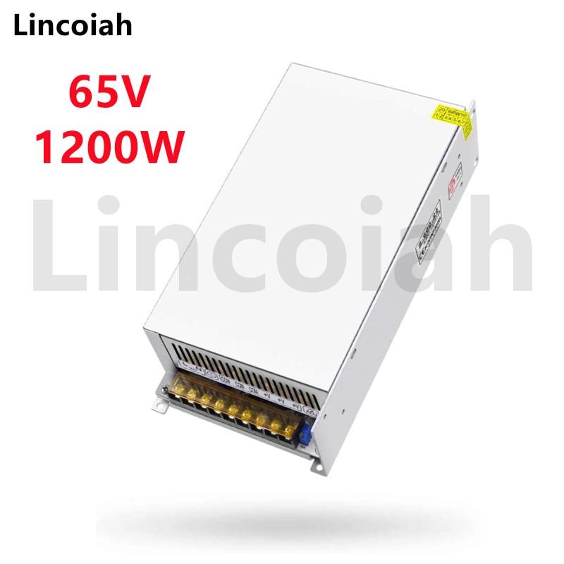 تحويل التيار الكهربائي DC 65V 1200W AC 100-240V SMPS CNC قابل للتعديل الجهد ل RD6018 RD6018W RD6012 RD6012W RD6006 RD6006W