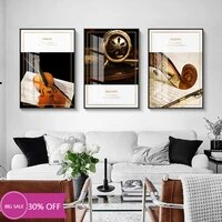 Toile de decoration de noel  affiches de peinture  Instrument de musique  Art mural retro pour violon  decoration de salon  decoration de maison