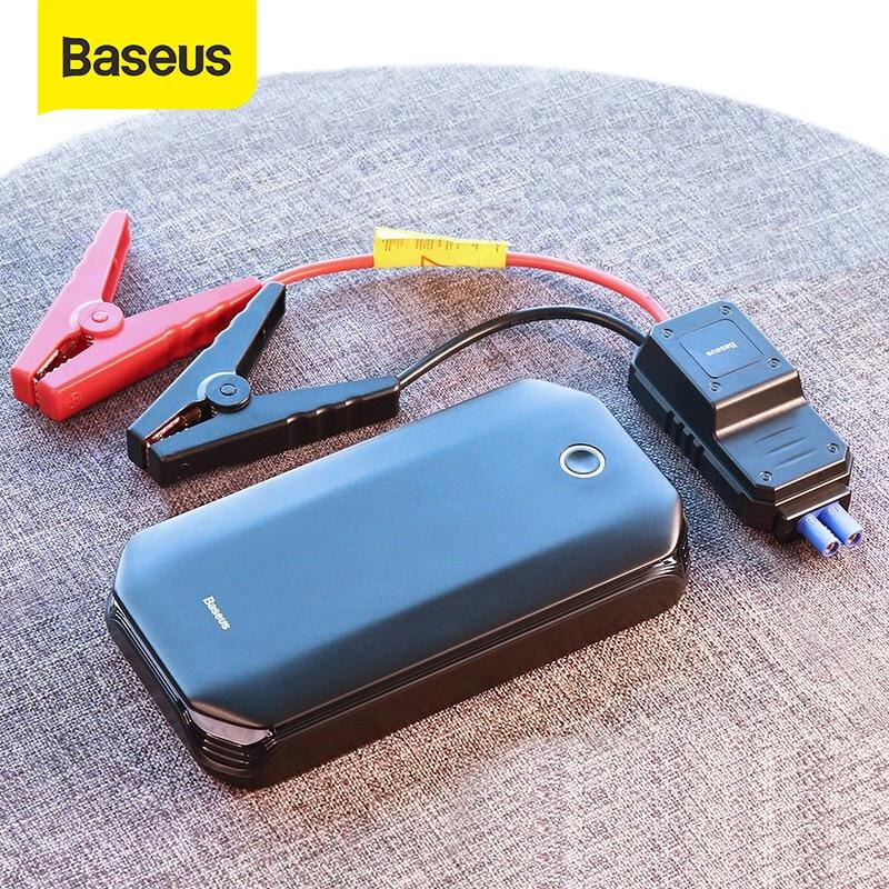 Baseus-Arrancador de batería para coche, arranque de emergencia para automóviles, cargador portátil de batería, booster de energía, reactivador de batería, 800A