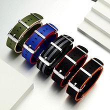 Megalith Lichtgewicht Ademend 20 Mm 22 Mm Horloge Band Oranje/Grijs/Blauw/Rood Nylon Nato Horloge Band pak Voor Alle Merk Horloge Band