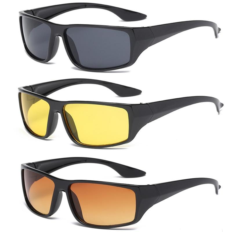 Автомобильные антибликовые Ночные очки солнцезащитные очки для вождения в мотоцикле очки ночного видения защитные очки для вождения UV400