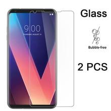 2PCS Protective Glass for LG X Power 2 X Screen HD Tempered Glass 9H Film Screen Protector for LG V50 V40 V30 V20 V10 Hard