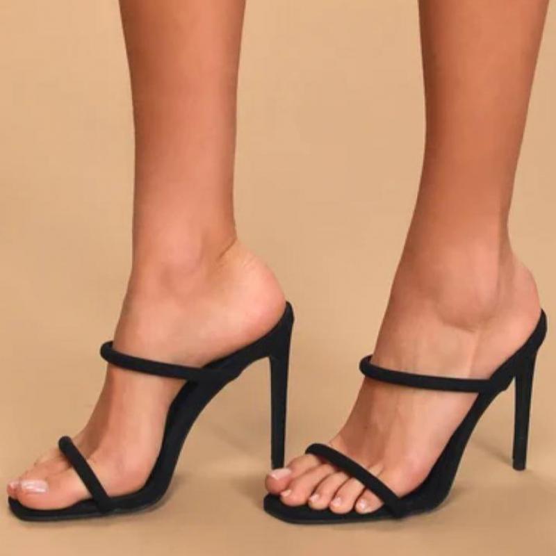 2021 sandálias de couro feminino para salto