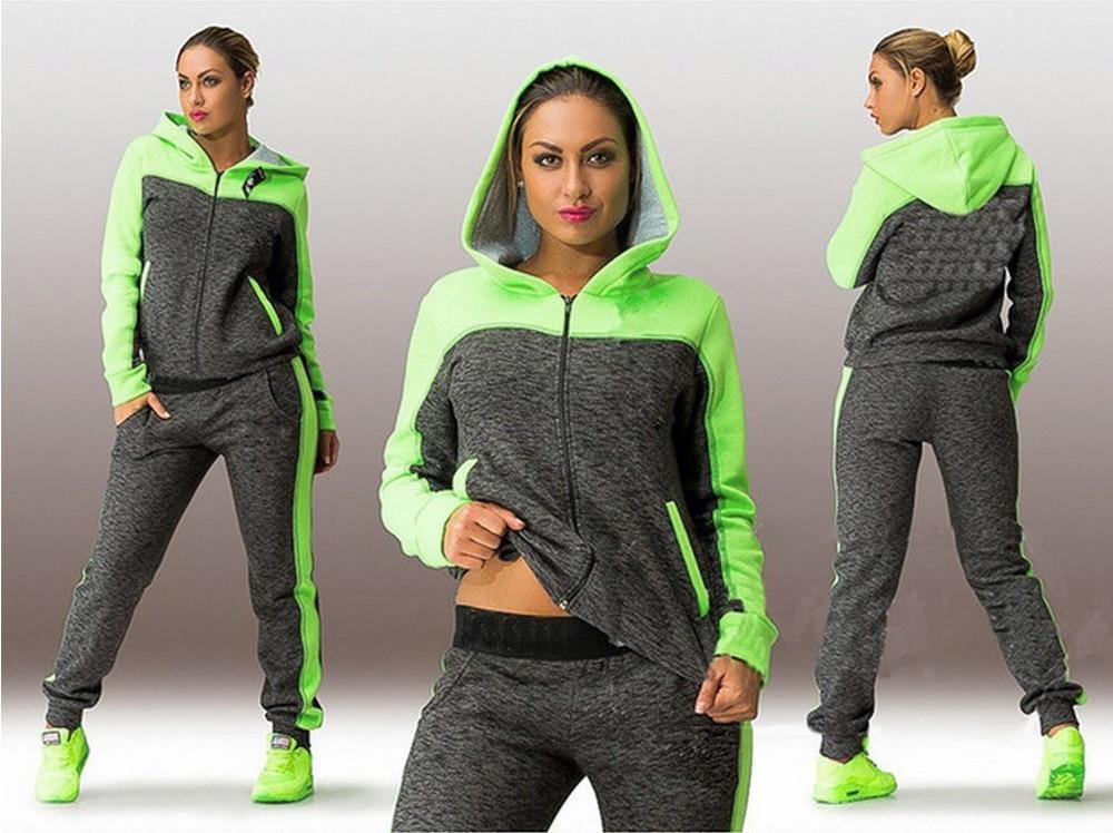 Conjunto de dos piezas de chándal deportivo para mujer, trajes sudaderas con...