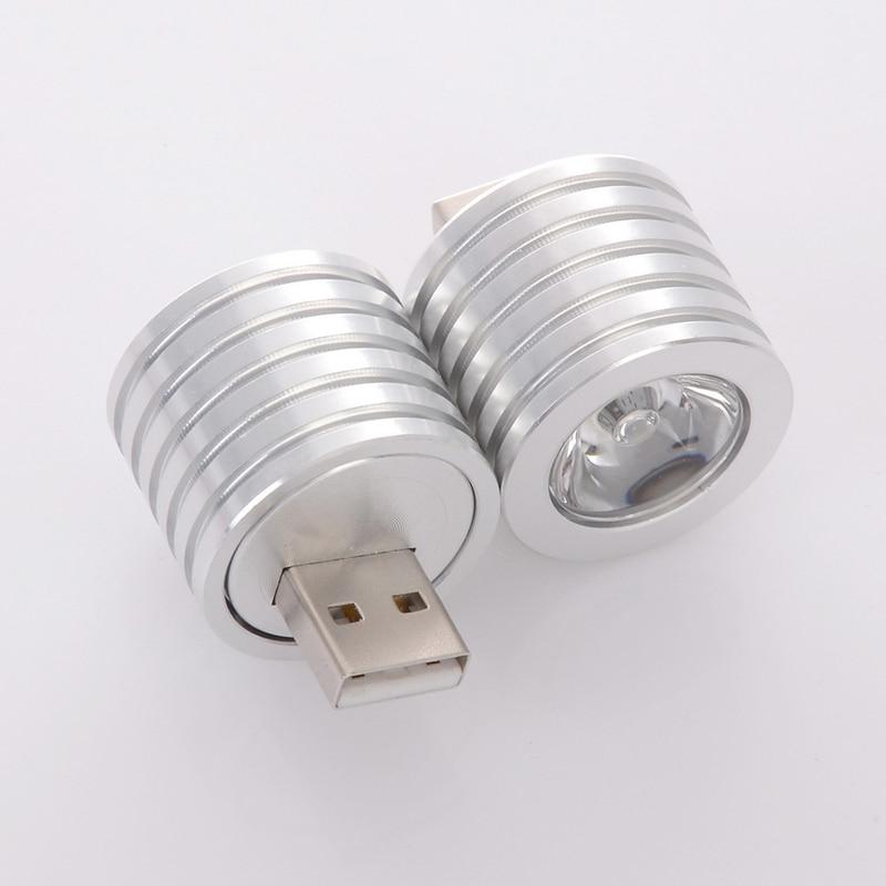 Mini Portabale de aluminio 2W USB Led luz de noche portátil 27mm linterna portátil para ordenador