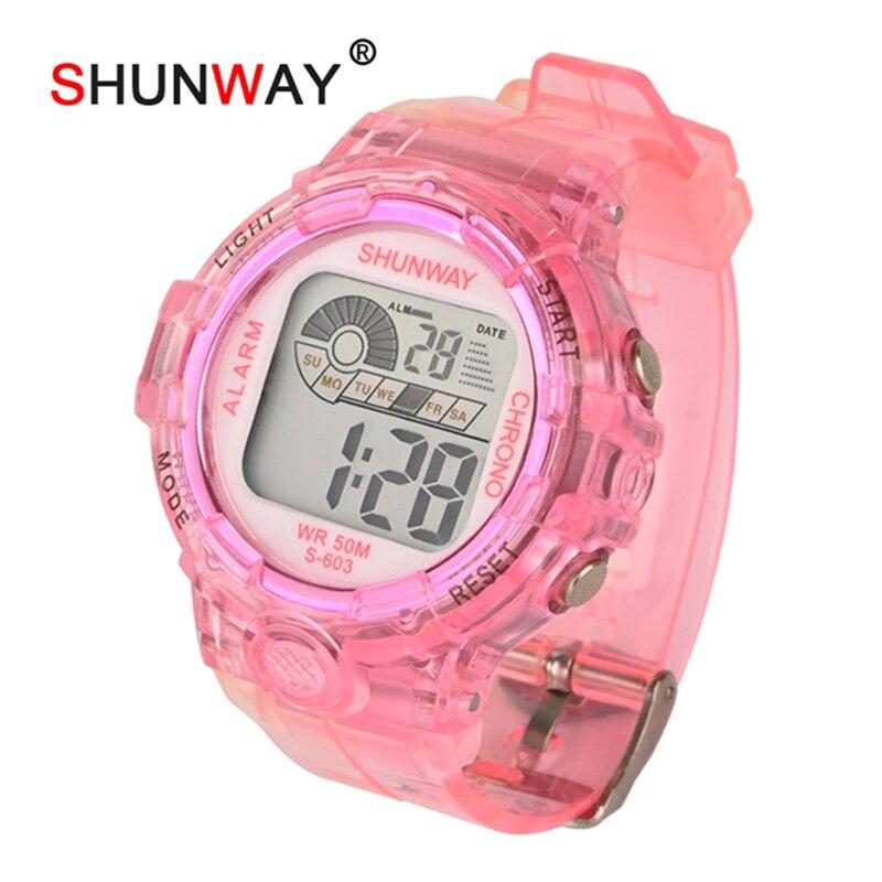 Child Swimming Watch Digital Fashion Sports Watches Silicone Rubber Fashion Boys Girls Waterproof Wristband Kids Clock Gift 603