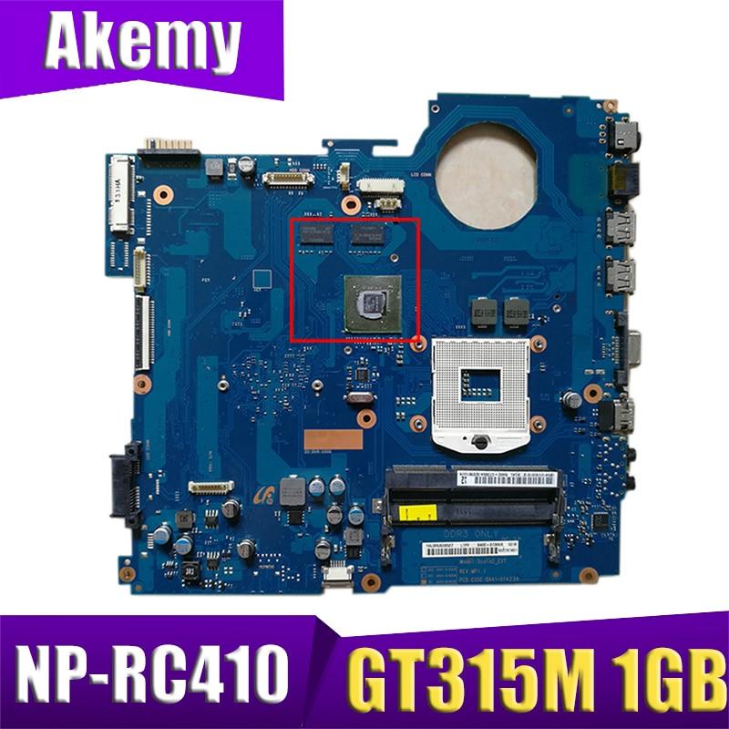 AKEMY BA92-07596A BA92-07596B اللوحة المحمول لسامسونج NP-RC410 RC410 14 بوصة HM55 DDR3 Geforce 315 متر 1 جيجابايت اللوحة الرئيسية