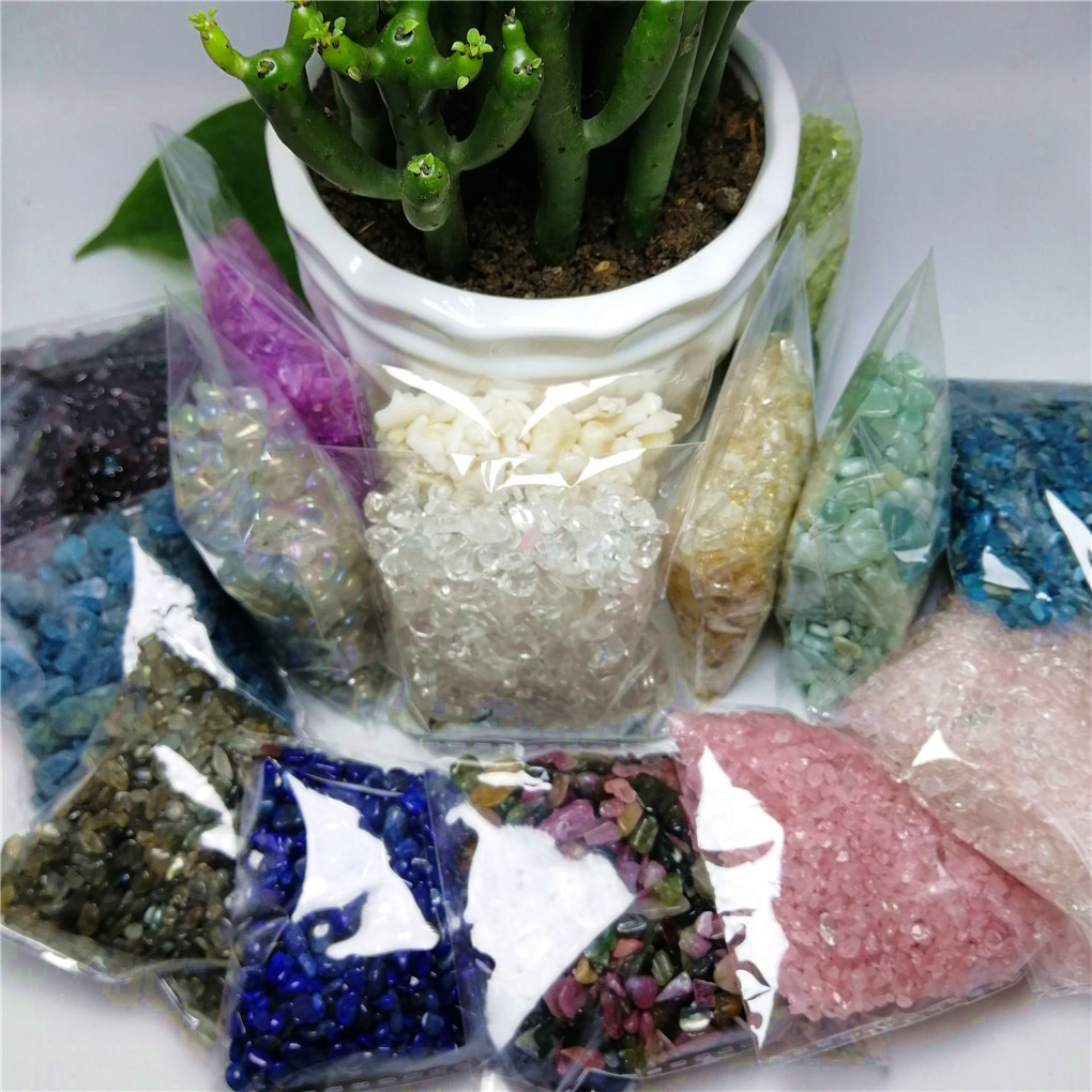 ¡Oferta! ¡venta al por mayor! De desmagnetización piedra, minerales para acuario, cristal Natural, piedra grava decorativa, piedra caída, 1 bolsa