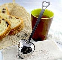 8% yeni kalp şekilli filtre çay topları paslanmaz çelik çay süzgeçler eğik çay sopa tüp çay demlik dik H-48