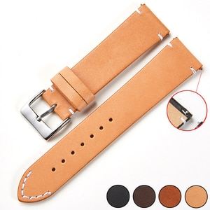 22mm Watch Band Quick Release Top-grain Nubuck Leather Strap For Tissot Seiko Ultra Thin Soft 16mm 18mm 20mm 24mm 22mm Brown