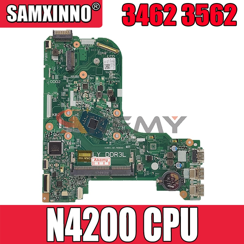 Akemy العلامة التجارية الجديدة 16823-1 GFV07 لديل انسبايرون 3462 3562 اللوحة الأم للكمبيوتر المحمول N4200 وحدة المعالجة المركزية CN-021W95 21W95 اللوحة الرئيسية ...