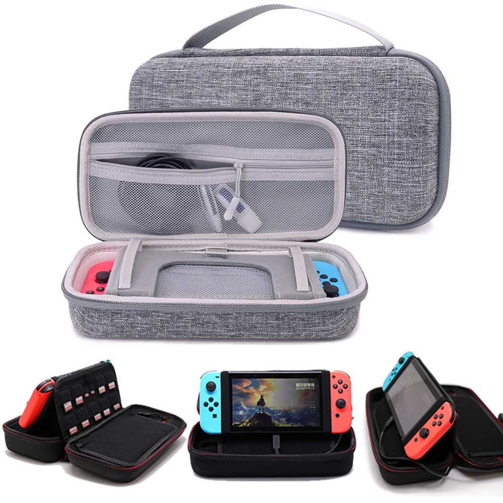 Storage Bag Black Hard Portable Carrying Case Bracket Pouch For Nintendo Switch & oled Console Protective Cover Accessories