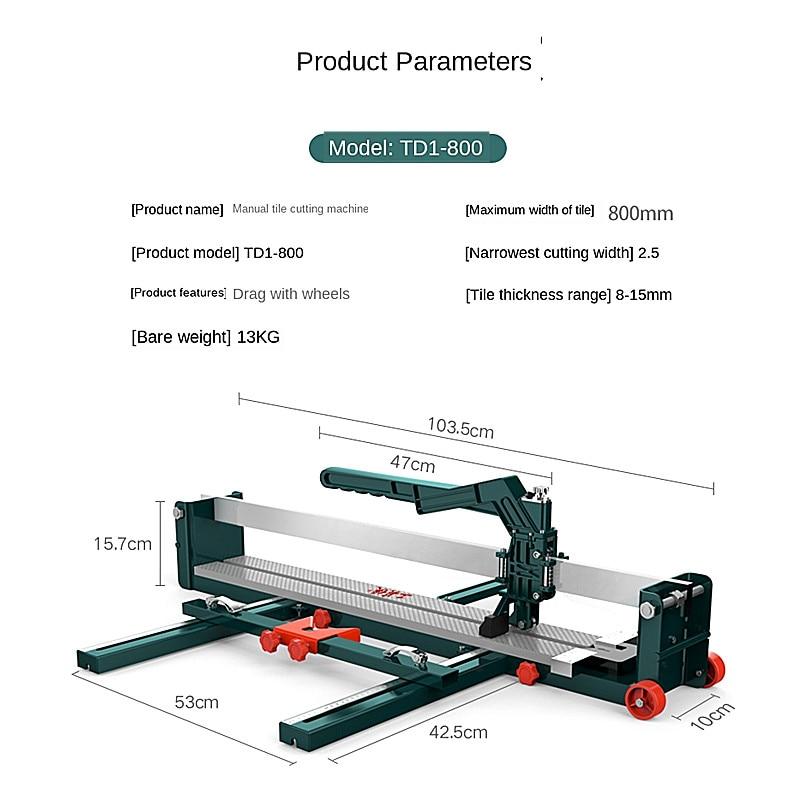 Free shipping manual tile cutter Tile pusher 800 1000 push cutter floor tile cutter enlarge