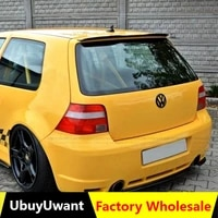 ubuyuwant rear roof lip spoiler for 99 06 vw golf 4 mk4 r32 hatchback spoiler abs plastic gloosy black car tail wing decoration