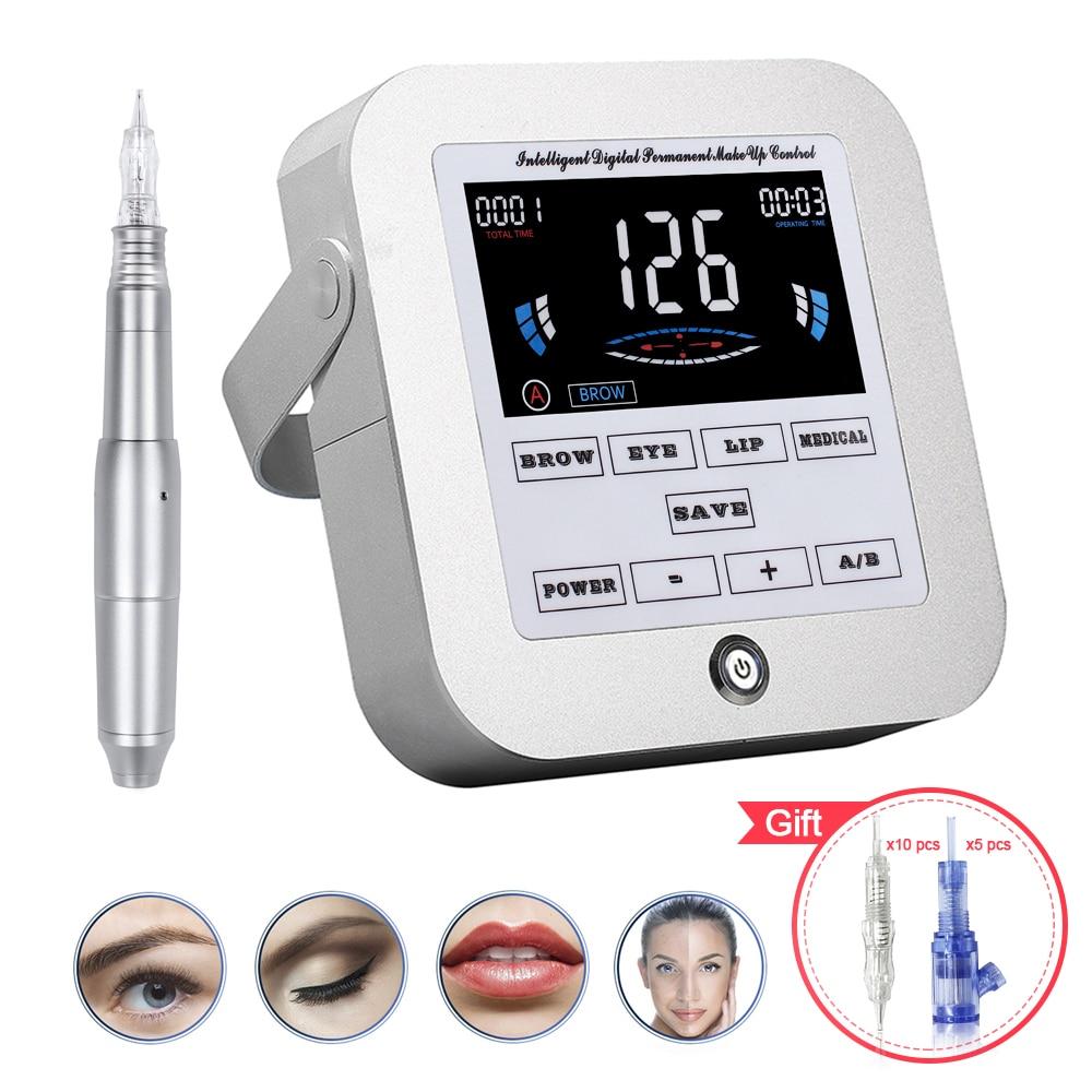 Biomaser nueva máquina para maquillaje permanente ceja tatuaje profesional máquina Digital dispositivo ceja lápiz labial juegos CTD003