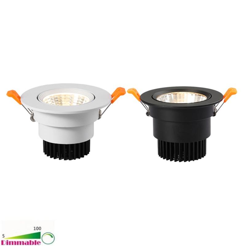 ip65 waterproof led recessed downlight 5w 7w 9w 12w 15w led spot light ceiling lamp home lighting ac 85 265v for bathroom lamp Dimmable AC85V-265V 5W 7W 9W 12W 15W 18W 25W 30W CREE COB Downlight LED Recessed Ceiling Lamp Spot Light For Home Lighting