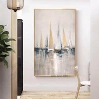 Mode moderne abstrait mur Art affiches et impressions toile peintures navire paysage marin peinture photo salon decoration de la maison