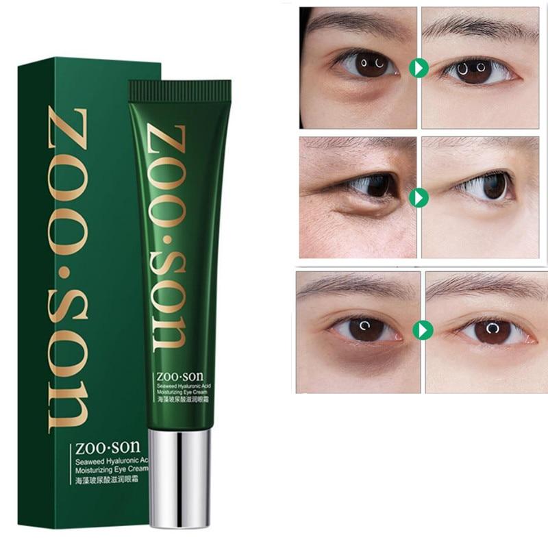 Ácido hialurônico para os olhos, creme hidratante anti-rugas com ácido marinho, removedor de círculo escuro e anti-envelhecimento