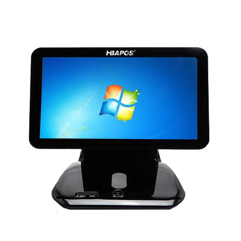 POS System Terminal Machine 15'' Touch Screen LCD Monitor Display with Small Customer Display Cash Register for retails enlarge