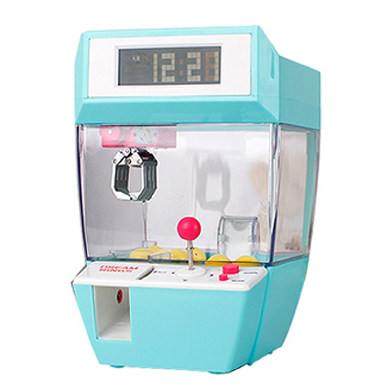 Catcher Alarm Clock Coin Operated Toy Machine Crane Machine Candy Doll Grabber Claw Arcade Games Automatic Mini Vending Kit Kids
