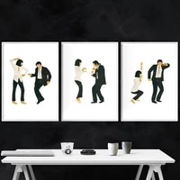 pulp fiction poster art print classic movie jack rabbit dance poster minimalist wall art canvas painting wall picture home decor