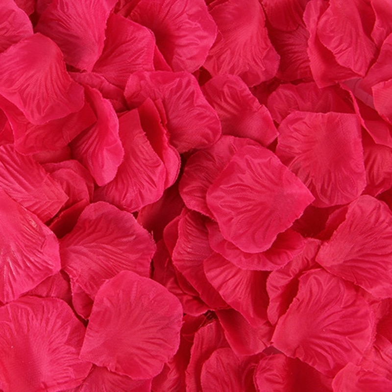 2000 pcs kelopak bunga mawar buatan kelopak bunga aksesori - Aksesori perkahwinan - Foto 2