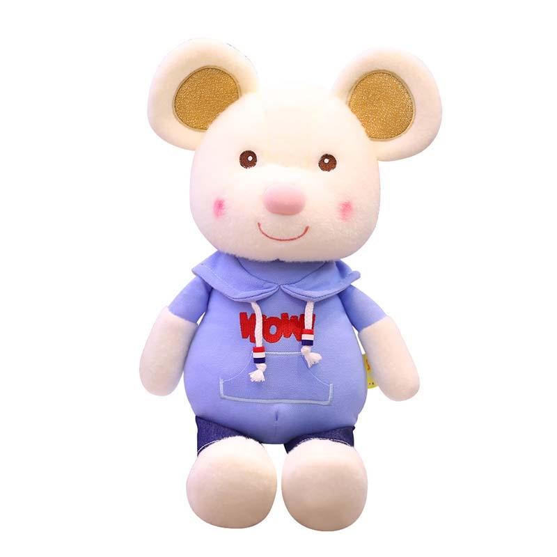 1pc cute mouse plush toy soft stuffed animal plush doll children girl gift Baby kawaii cute soft plush cartoon animal mouse недорого