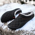 Cotton Slippers Men Winter Outdoor Men Shoes WaterProof Cold-Proof Casual Shoes Men Plush Warm Man Footwear Big Size 39-48