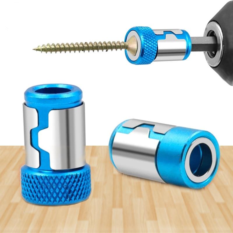 Универсальное магнитное кольцо 1/4» металлическая отвертка бит магнитное кольцо для 6,35 мм хвостовик анти-коррозия сверло магнит мощный кольцо
